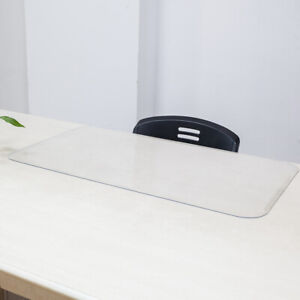 Rectangular Table Desk Mat Home Office Pad 36 x20 Clear Transparent Easy Clean
