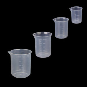 50 100 150 250 500ml Small Plastic Graduated Measuring Beaker cup container