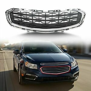 For 2015 Chevrolet Cruze Front Center Grill Grille Assembly Black W Chrome