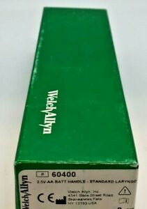 Welch Allyn 60400 Standard Laryngoscope Handle 2 5v Aa Battery Handle New
