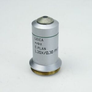 Leica C Plan L 20x 0 30 0 2 Ph1 Phase Contrast Microscope Objective 506152