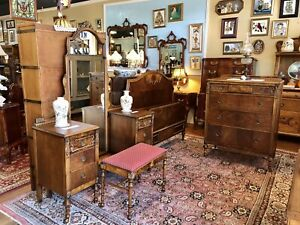 Antique French American Traditional Bedroom Furniture 3 Pc Set Charles R Sligh