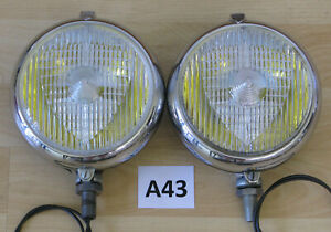 Marchal 670 680 690 Fog Driving Lights Pair Carello Hella Cibie