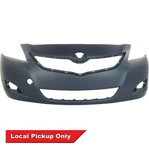 Front Bumper Cover For 2007 2012 Toyota Yaris Sedan W Fog Cut Out To1000321