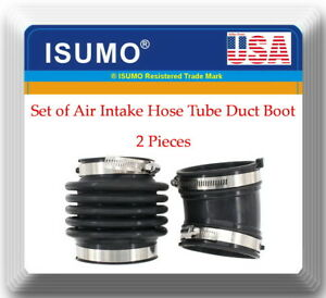 Set Of 2 Air Intake Hose Tube Duct Boot For Infiniti M35 M45 2006 2009 V6 3 5l