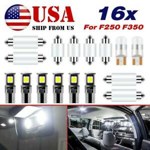 White Roof Cab Marker Led Bulbs Interior Lights For Ford F250 F350 1999 2017