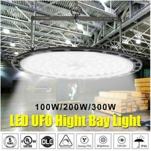 Ufo Led High Bay Light 50 100 200 300 500w Low Bay Warehouse Industrial Lighting