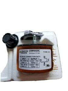 Superior Electric Company Type 12c Powerstat Variable Transformer Usa