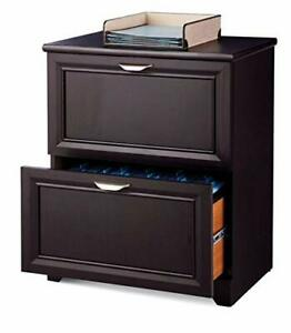 New 24 w 2 drawer Office Business Lateral File Cabinet Organizer Espresso
