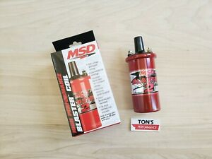 Msd 8202 Ignition Coil Blaster 2 Canister Round Oil Filled Red 45000 V Ea