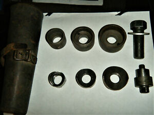 Greenlee Ball Bearing Knockout Punch Set 735 Tool Industrial Conduit 735