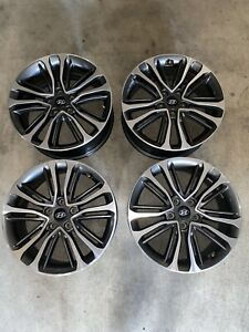 Set Of Hyundai Veloster 2016 2017 Factory Oem Wheel 18 Rim 70894 Cnc Charcoal