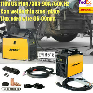 Mig Welder Flux Core Wire Arc Igbt Gasless Welding Machine Automatic Feed 110v
