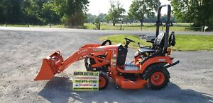 2018 Kubota Bx2380 Compact Loader Tractor W mower Only 24 Hours Warranty