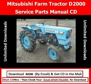 Mitsubishi Farm Tractor D2000 Service Parts Manual Cd