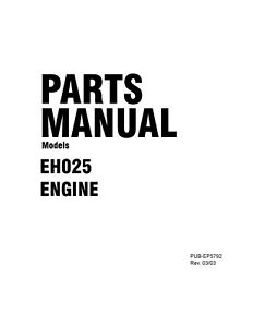 Robins Engine Service Parts Manual Eh025 On Cd