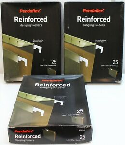 75 Pendaflex Reinforced Hanging File Folders 4152 3 Boxes Of 25