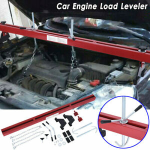 1100 Lbs Heavy Duty Engine Load Leveler Support Bar Transmission W Dual Hook Red