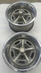 Pair Of 1969 Chevelle Ss 14 X 7 Ralley Rally Ss Ya Code Dated 6 4 69 And 6 9 69