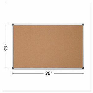 Mastervision Value Cork Bulletin Board With Aluminum Frame 48 X 96 Natural