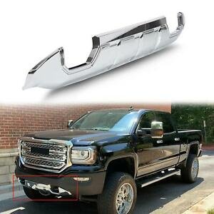 Fits 16 18 Gmc Sierra 1500 Front Bumper Skid Plate Protective Armor Chrome