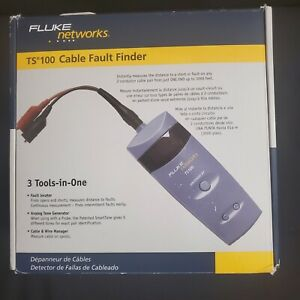 Fluke Networks Ts100 Cable Fault Finder W Bnc To Alligator Clips 26500000