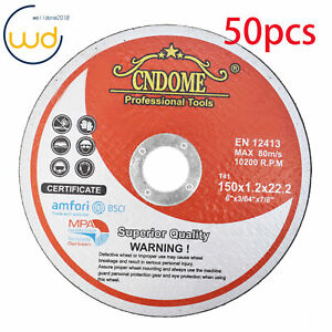 50 Pack 6 x 045 x7 8 Cut off Wheel Metal Stainless Steel Cutting Discs