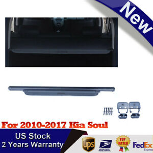 Retractable Black Cargo Cover For 2010 17 Kia Soul Resistance For Wear Dirty Uv