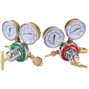 Acetylene Oxygen Gas Welding Regulator Pressure Gauge Fit Victor Solid Brass Us