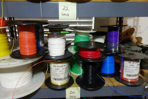 150 Ft 20 Awg 600v Mil Spec Solid Core Teflon Wire 3 X 50ft Ea