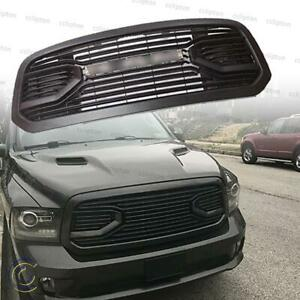 For 2013 18 Dodge Ram 1500 Front Upper Bumper Grille Big Horn Style Matte Black