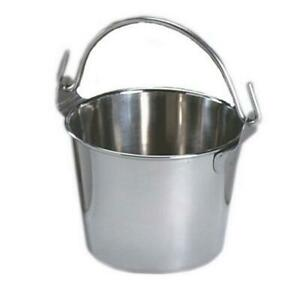 6 qt Stainless Steel Pail Rust Proof Bucket