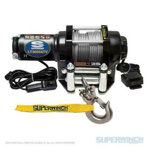 Superwinch Lt3000 12v Atv Utility Winch 3000 Lb Capacity With 50 Steel Rope
