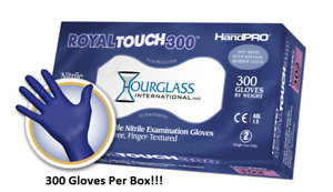 Box Of 300 Royaltouch300 Nitrile Exam Gloves Powder free Latex Free xsmall