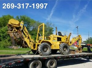 2001 Vermeer V8550a Rubber Tired Trencher Cable Plow Deutz Diesel Hydrostatic