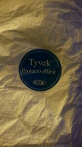 Lot Of 5 Dupont Tyvek Coveralls Size Medium Personal Protection Same Day Ship