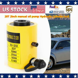20t 44000lbs 2inch Manual Electric Oil Pump Hydraulic Cylinder Jack Stable