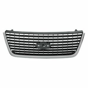 New Bumper Grille Assembly Chrome Black Front Fits Ford Expedition 2003 2006