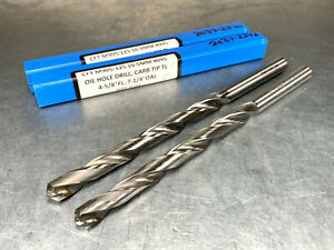 2 George Whalley 10 5mm Carbide Tipped Drills Coolant Fed M905 125