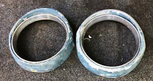 Set Of 1954 Ford Headlight Bezel With Chrome Trim Ring