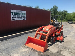 2012 Kubota Bx1850 4x4 Hydo Compact Tractor W Loader 60 Mower Only 300hrs