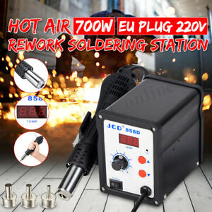 Led 858d 700w Electric Hot Air Heat Gun Soldering Station Desoldering Tool Usa
