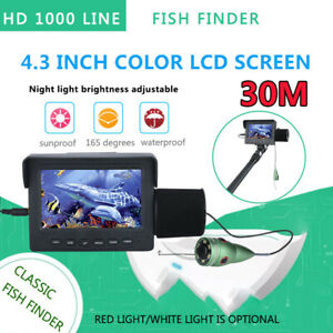 1200TVL 4.3'' Display  Fish Finder Underwater Fishing Camera 6PCS IR LED Camera