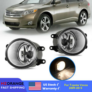 Fog Light For Toyota Venza 2009 2015 Clear Replacement Housing Assembly Pair L r