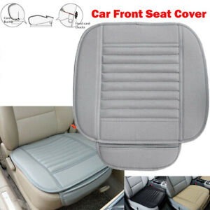 Universal Car Front Seat Cover Pu Leather Breathable Half Surround Chair Pad Mat