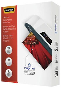 Fellowes Laminating Pouches 9 X 11 1 2 Inches 5 Mil Thickness Pack Of 100