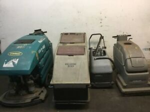 4 Floor Scrubbers Nobles Minuteman Micromatic And Tennant