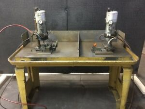 Dual Dumore Automatic Drill Head Setup