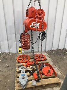 Cm Powerstar 5 Ton Electric Chain Hoist Overhead Crane Trolly Accessories