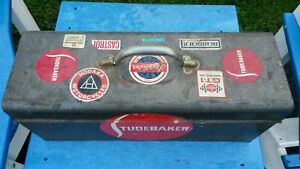 Vintage Antique Metal Toolbox Studebaker Automobile 18 9 6 Tool Box Stp